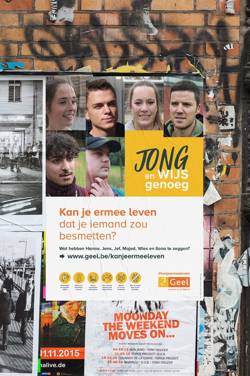 stad Geel Corona campagne posters aroma communicatie