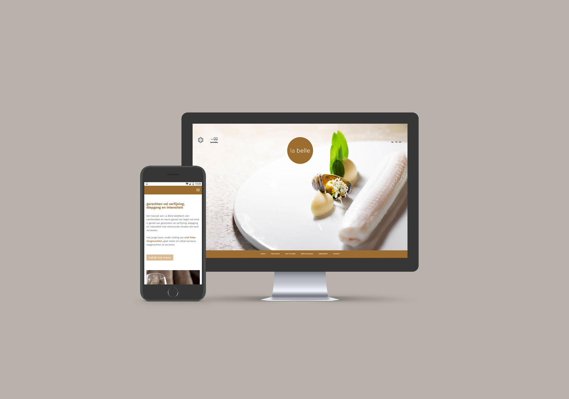 aroma communicatie: website La Belle Geel
